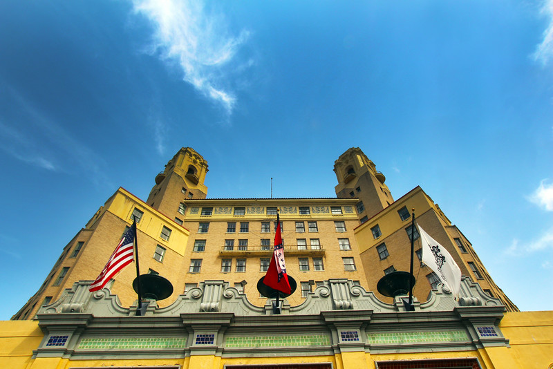 Hot Springs Arkansas, The Arlington Resort Hotel & Spa, Wide Shot from Stairs