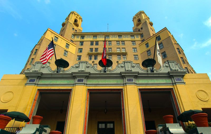Hot Springs Arkansas, The Arlington Hotel & Spa Exterior from Below