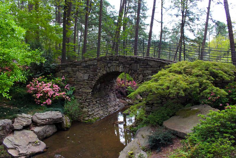 Hot Springs Arkansas, Garvan Woodland Gardens, Picturesque Bridge