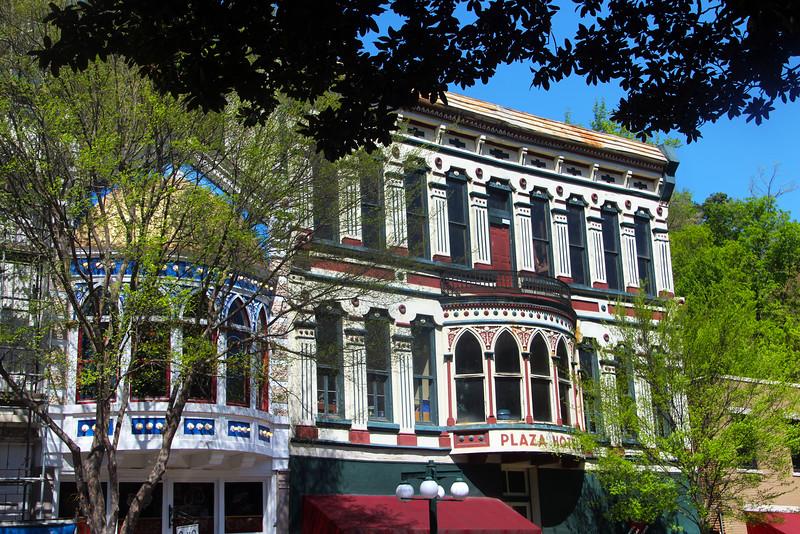 Hot Springs Arkansas, Colorful Historic Architecture, Central Avenue