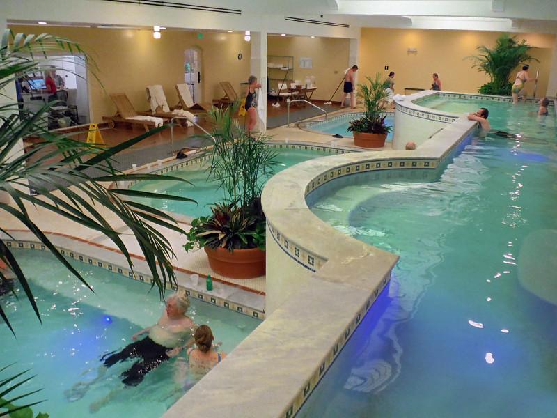 Hot Springs Arkansas, Quapaw Baths & Spa, View on Pools