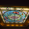 Hot Springs Arkansas, Fordyce Bathhouse, Art Deco Stained Glass Ceiling