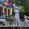Hot Springs Arkansas, Street Fountain, Arlington Resort Hotel & Spa