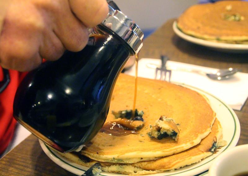 Hot Springs Arkansas, The Pancake Shop, Blueberry Pancake Stack