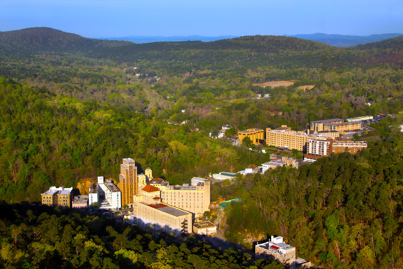 Hot Springs Arkansas, View on City from Hot Springs Tower