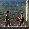 Hot Springs Arkansas, View on Couple and Vista, National Park Lookout