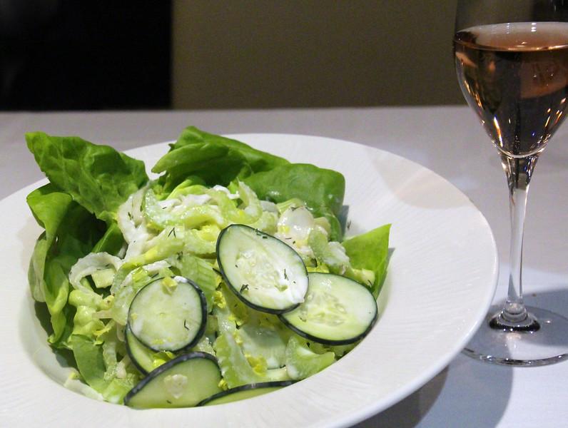 Richard's Restaurant, Garden salad with creamy feta dressing