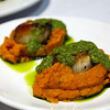 Richard's Restaurant, Seared Scallops with cilantro, whipped sweet potatoes