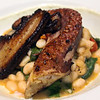 Richard's Restaurant, Grilled octopus, Snake River pork belly, bean cassoulet