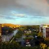 Boise, Downtown, Rainbow over Flat Top Mountain