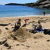 Acadia National Park, Family on Sand Beach