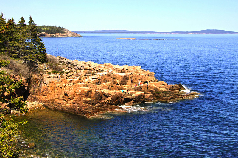 Acadia National Park, View Over Rocks Near San Beach