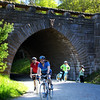Acadia National Park, Bicyclists Under Carriage Bridge