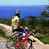 Acadia National Park, Cadillac Mountain, Bicyclist