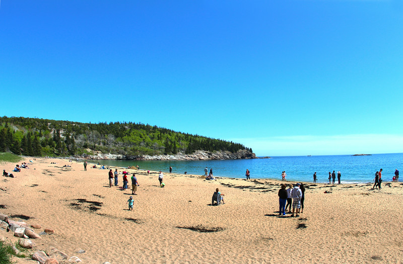 Acadia National Park, Sand Beach Wide View