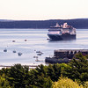 Bar Harbor Maine, Cruise Ship Entering Port