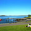 Bar Harbor Maine, Village Green, View onto Bay