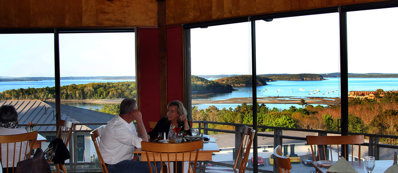 Looking Glass Restaurant,  Bluenose Inn, Bar Harbor, Incredible View, Gourmet Cuisine