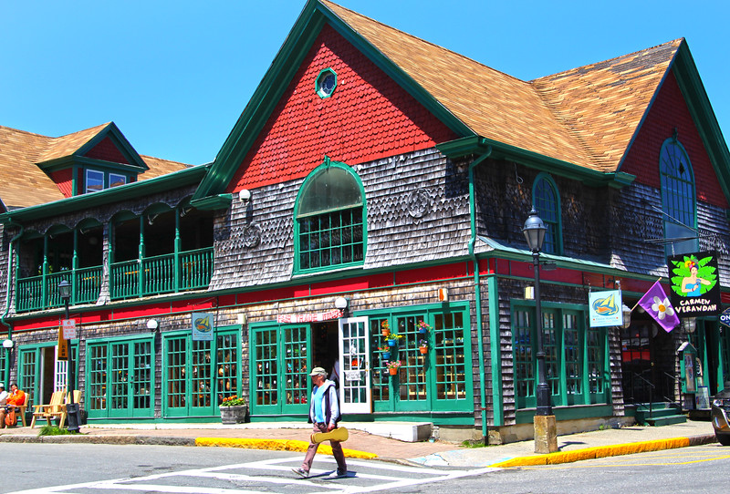 Bar Harbor Maine, Colorful Shop