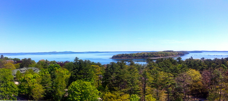 Bar Harbor Maine, Panorama from Bluenose Inn