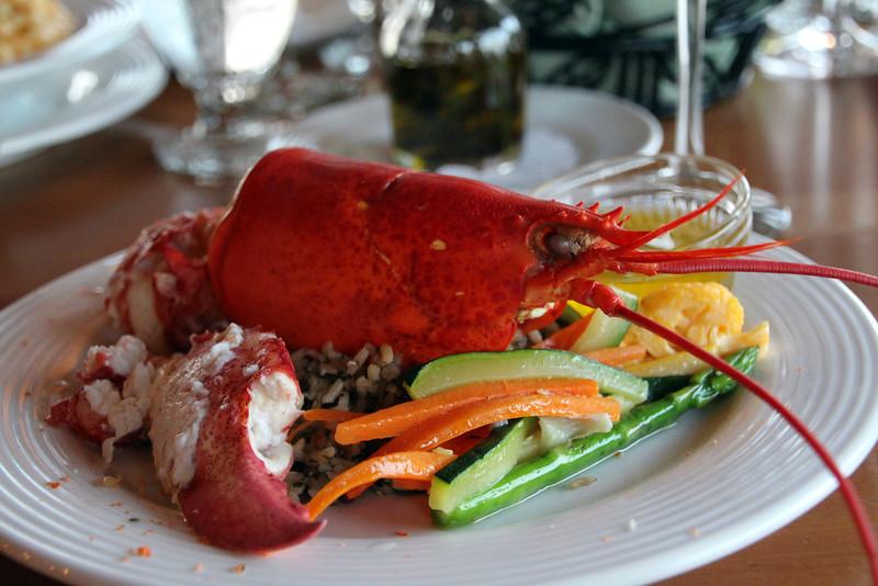 Looking Glass Restaurant, Bluenose Inn, Succulent Lobster Entree