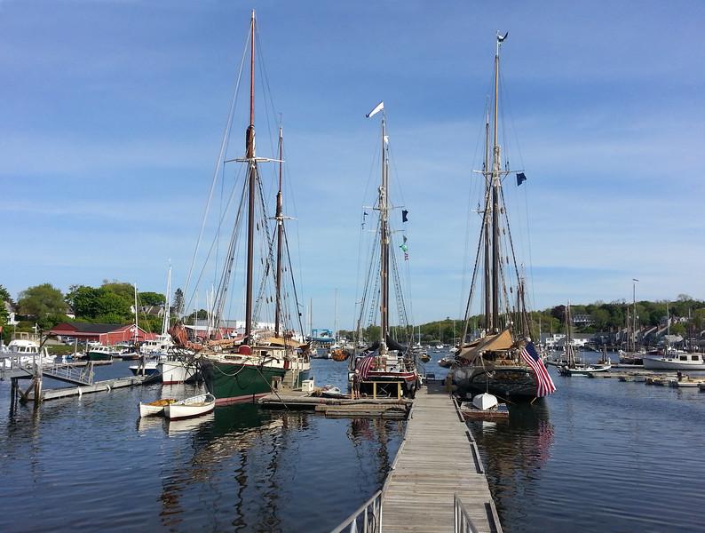 Camden Maine, View on Windjammers