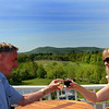 Lincolnville Maine, Cellardoor Winery, Toast with Vineyard View
