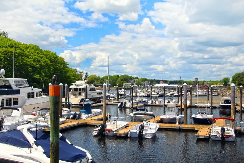 Kennebunkport Maine, View on Marina