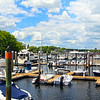 Kennebunkport Maine, View on Marina