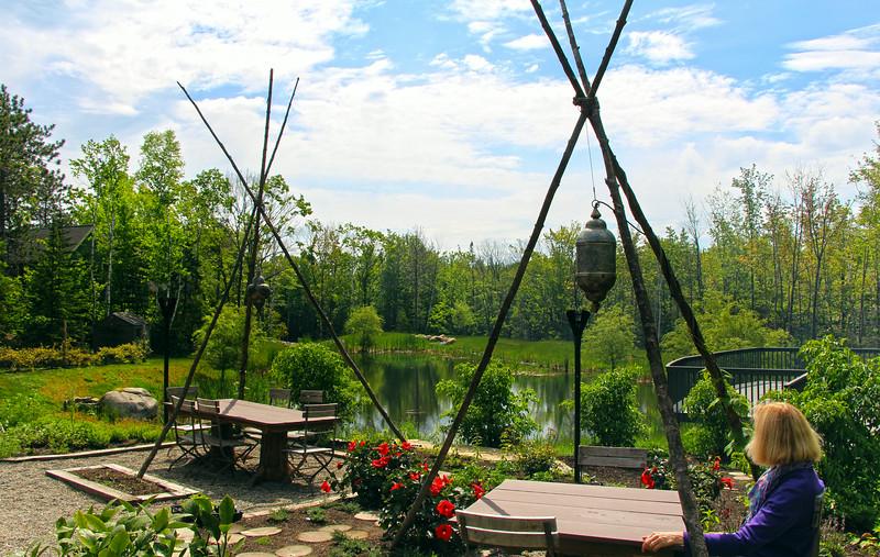 Kennebunkport Maine, Hidden Pond Resort, View from Spa