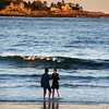 Kennebunk Maine, Couple Frolicking on Beach