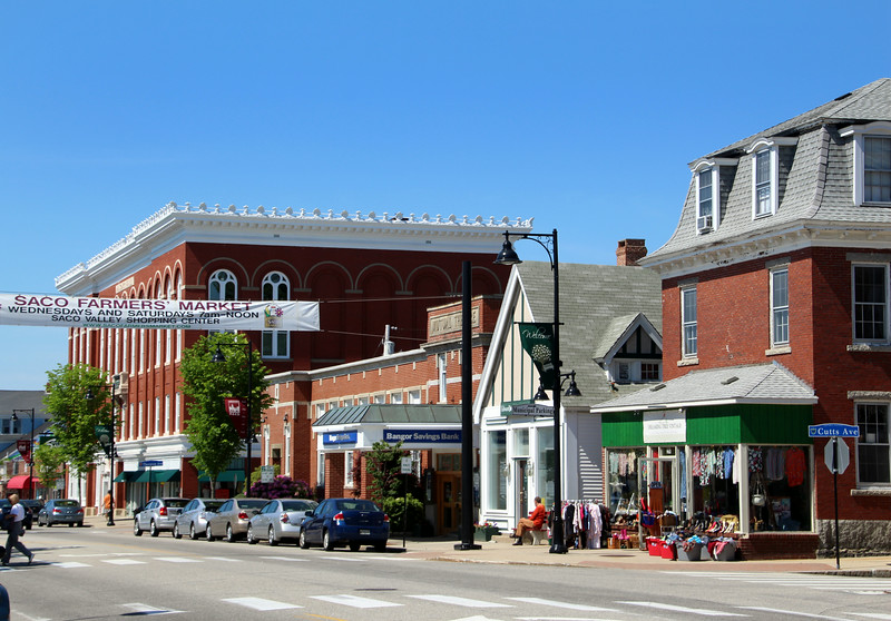 Saco Maine, Downtown Street View