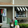 Kennebunkport, Shoppers Passing Green Tangerine