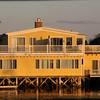 Kennepunkport Maine, Waterside Home at Twilight