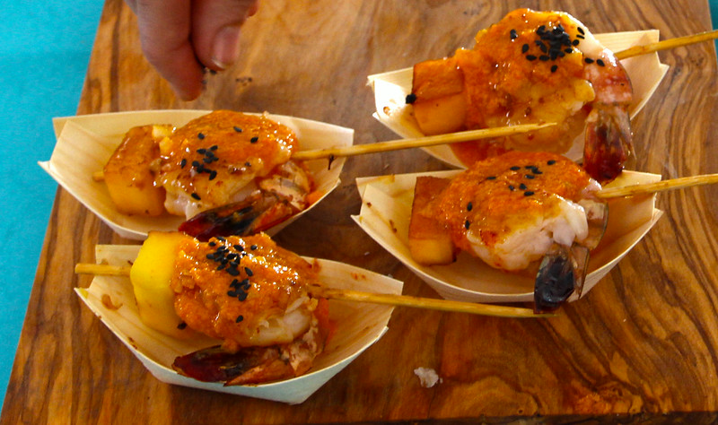 Kennebunkport Maine, Food & Wine Festival, Pineapple Sesame Shrimp