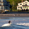 Kennebunk Maine, Surfer in Wave
