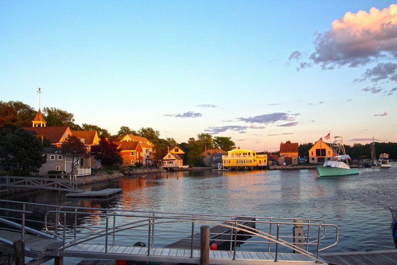 Kennebunkport Maine, Marina at Twilight