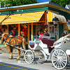 Kennebunkport Maine, Horse Carriage, Village Center