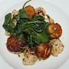 Harraseeket Inn, Jumbo Maine Scallops, Cauliflower Granola, Kale, Caper Almond Brown Butter