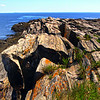 Cape Elizabeth Maine, Mica & Quartz Rocks on Shoreline