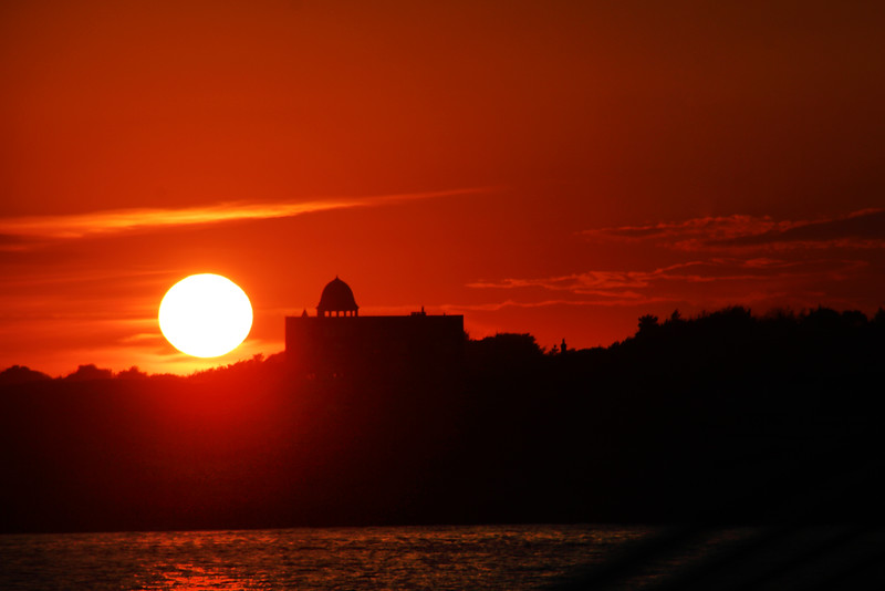 Rhode Island, Newport, Sunset from Harbor Boat Tour