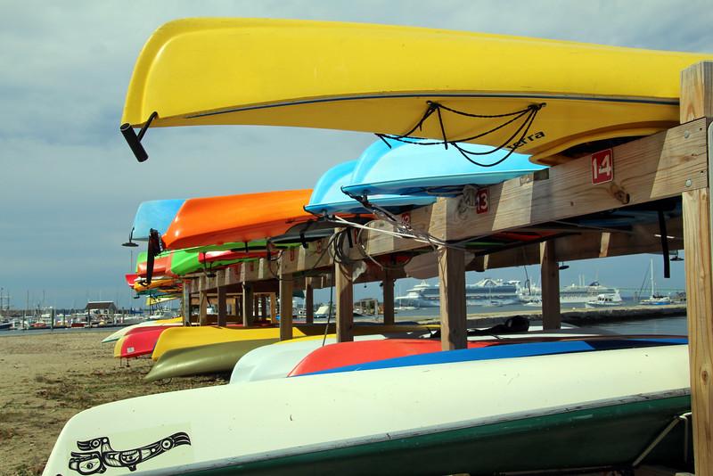 Rhode Island, Newport, Kayaks & Cruise Ships