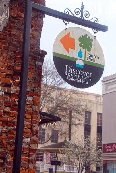 Brenham-Washington County Texas, Toubin Park Entrance Sign
