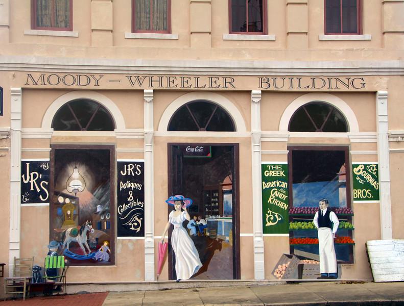 Brenham-Washington County Texas, Downtown Brenham, Murals, Moody-Wheeler Building