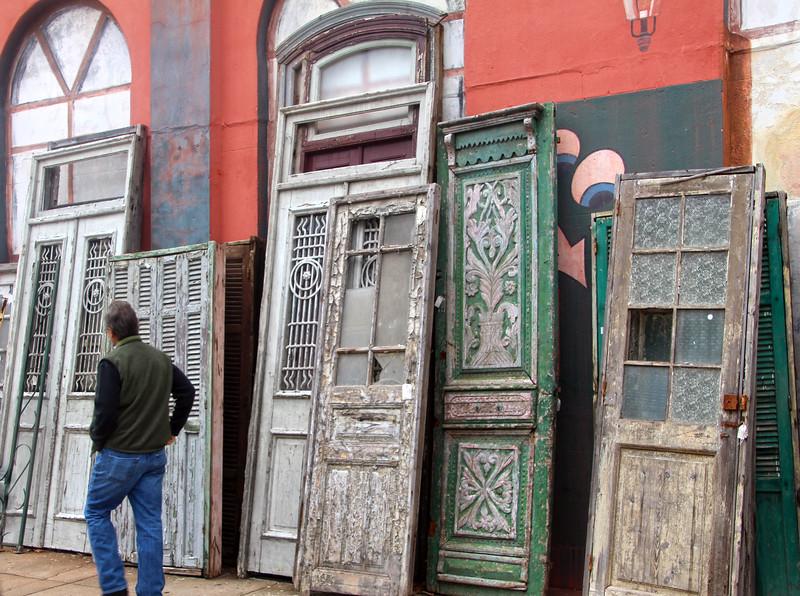 Brenham-Washington County Texas, Antique Doors, Downtown Brenham