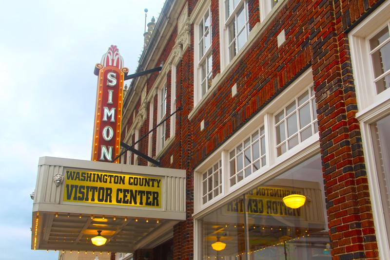 Brenham-Washington County Texas, Brenham Visitor Center Sign