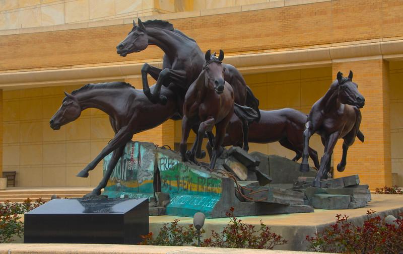 Brenham-Washington County Texas, George Bush Presidential Library & Museum, Berlin Wall Monument