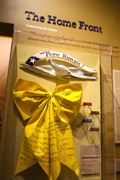 Brenham-Washington County Texas, George Bush Presidential Library & Museum, Kuwait Home Front
