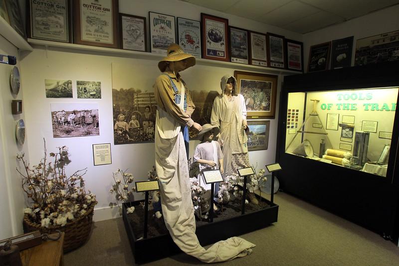 Brenham-Washington County Texas, Texas Cotton Gin Museum, Historical Display