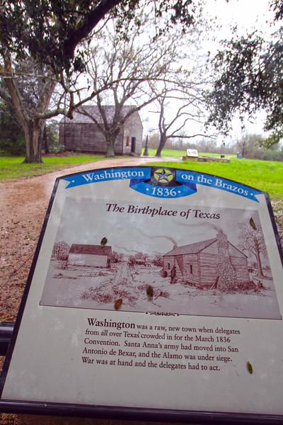Brenham-Washington County Texas, Washington-on-the-Brazos State Historic Site, Information Plaque